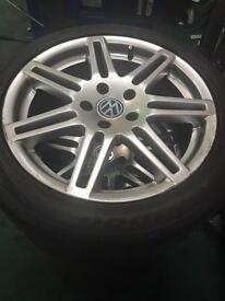 17 inch Audi transporter caddy vw rs4 alloy wheels 4 good tyres