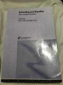 Schooling and Equality- Fact, Concept and Policy Book