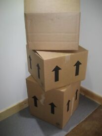 Cardboard Removal Boxes, 4 sizes including wardrobe boxes - used once only