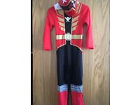 Power ranger outfit with mask age 7-8