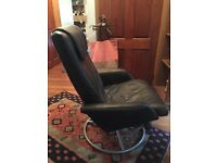 IKEA leather reclining chair