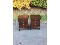 Pair of stag Minstrel 4 drawer bedside chests * free furniture delivery*