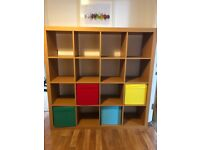 Oak effect shelving unit - Ikea Kallax