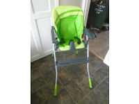 Chicco High Chair. Green.