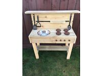 SPECIAL OFFER NOW ONLY FROM £39 CHILDREN'S OUTDOOR MUD KITCHENS HANDMADE TO ORDER