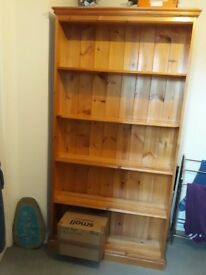 Large pine bookcase