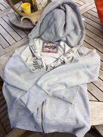 Super dry grey hoodie -size Large