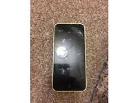 iPhone 5c 8gb. Yellow. Cracked screen but otherwise works fine.
