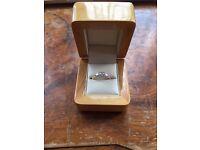 18ct rose gold 3 diamonds engagement ring