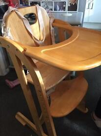 Pine Wooden High Chair