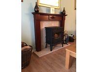 10kW Wood Burner & Chimney £700