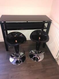 Console /Bar table and two bar stiiks