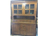 2 piece hand-made solid wood dining dresser.
