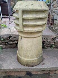 Old Louvered Chimney Pot 59 x 30 cm