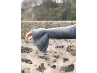 M&S Collection Grey Knit Bell Sleeve Jumper