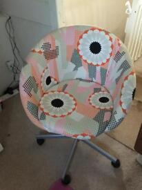 IKEA Floral swivel chair