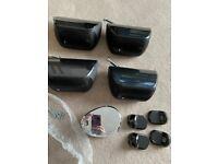 Bowers & Wilkins B&W Mini Theatre M-1 Black Speakers x 4 good quality - upgraded mine