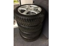 BK Racing alloys with new Michelin winter tyres