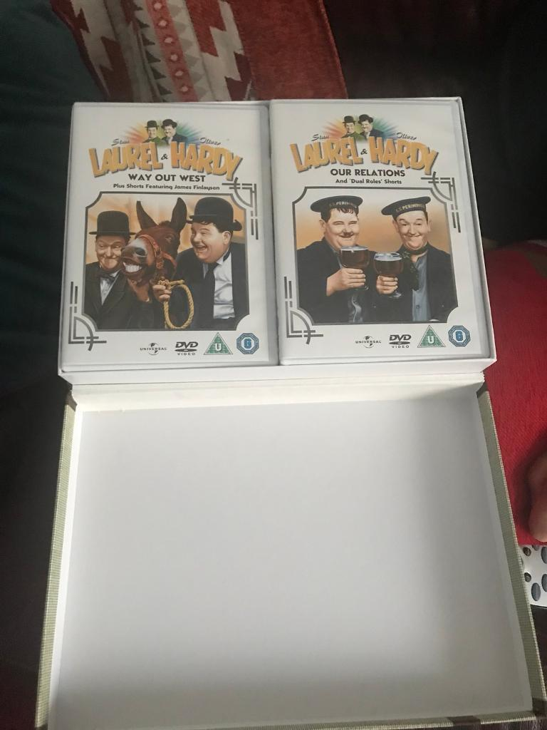 Laurel and hardy box set 10 films in black and white brand new not ...