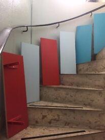 Blue and Red Shelfs