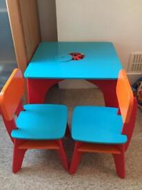 ELC Wooden Children Table and 2 Chairs RRP £75