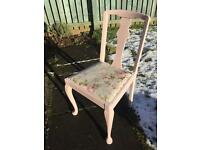 Shabby chic 1040s Dining chairs x4