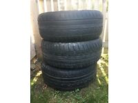 3 DUNLOP TYRES FOR 17 inch alloys X3 BMW X5 X1
