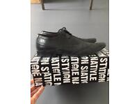 Mens topman black leather shoes size 9