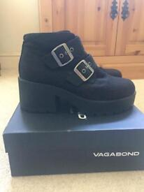Vagabond Dioon Canvas Buckle Boots UK7