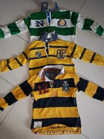 Next boys rugby tops autumn/winter stripes age 4