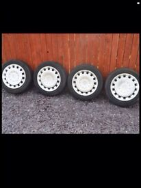 Bmw mini steel wheels and wheel trims