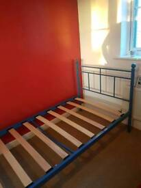 Blue single bed frame