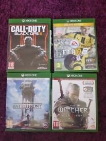 Selction of XBOX ONE games