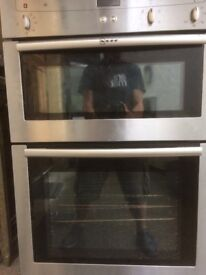 Neff double integrated oven stainless steel