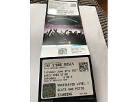 2 nr standing Stone Roses tickets at Wembley 17th June 2017