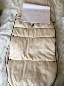Bugaboo off white footmuff