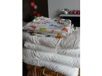 4 x Ikea Cot Bed Duvets and Covers (Colourgul Drum Print)