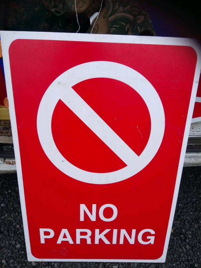 No Parking big sign