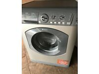 lovely silver hotpoint washing machine for sale