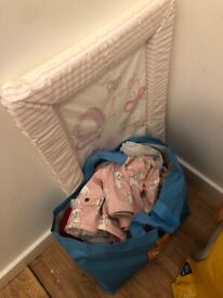 0-3 month baby girls cloths and changing mat