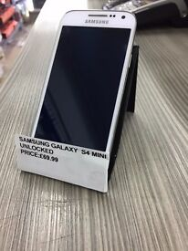 !!!!SUPER CHEAP DEAL SAMSUNG GALAXY S4 MINI UNLOCKED COMES WITH WARRANTY!!!!!!