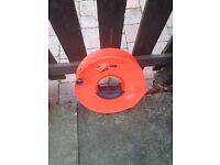 10 ft Caravan extension lead inside cable reel for electric hook up