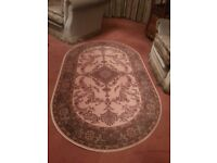 Rug - blue, pink and cream, 100% wool