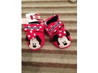 BNWT Mothercare Minnie Mouse slippers