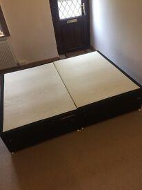 Divan king size bed base x4 drawers