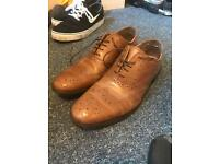 ASOS men's tan brogue size 10