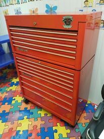 """Snap-on 40"""" Roll cab tool box 40"""" 75th anniversary edition RED Snapon"""