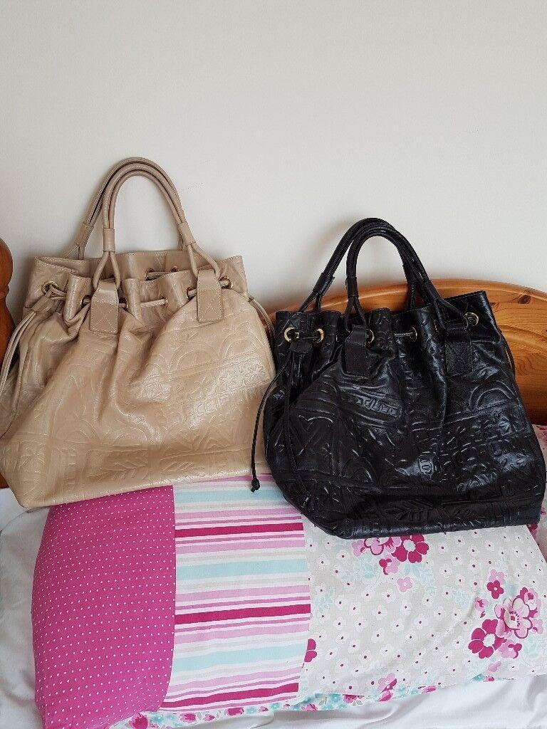 Braccialini Italian Leather Handbags X 2