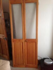 Pine bifold door