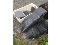 "Slate roofing tiles 20 x 10"" That's 50 x 25 cm unused to good to break!"